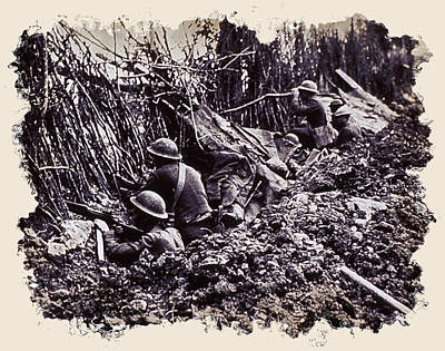 Doughboy Photograph - In The Trenches by Daniel Hagerman