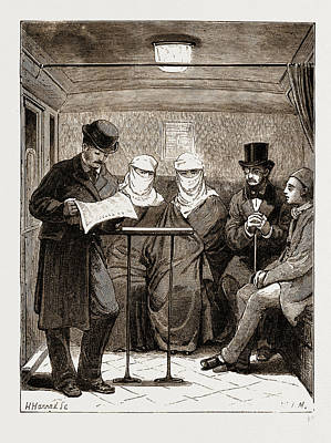 London Tube Drawing - In The Underground At Constantinople, Istanbul by Litz Collection