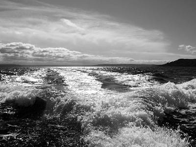 Photograph - In The Wake In Black And White by Jeanette C Landstrom