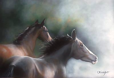In The Wind Art Print by Jean Yves Crispo