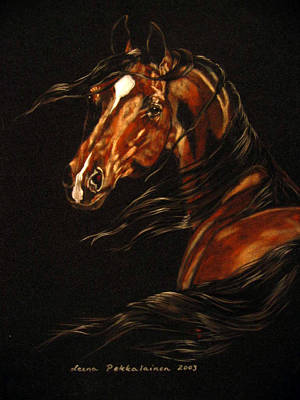 Horse Pastels Painting - In The Wind by Leena Pekkalainen