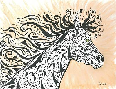 In The Wind Art Print by Susie WEBER