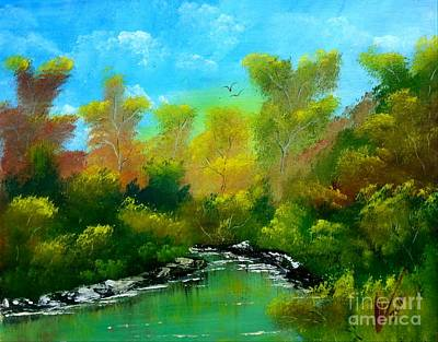 Caribbean Art Painting - In The Woods by Collin A Clarke