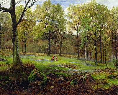 Clearing Painting - In The Woods by Henry Crossland
