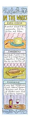 Europe Drawing - In The Works: by Roz Chast