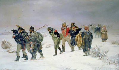 French Defeat Photograph - In The Year Of 1812, 1874 Oil On Canvas by Illarion Mikhailovich Pryanishnikov