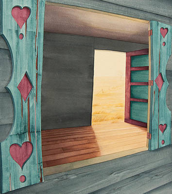 Abandoned Farm House Painting - In Through The Window  Out Through The Door by Scott Kirby