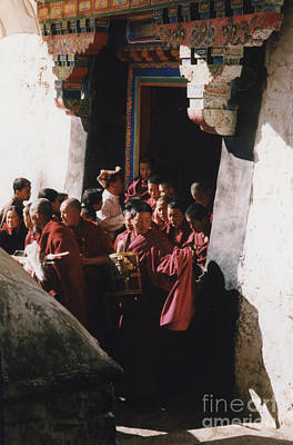 Photograph - In Tibet Tibetan Monks 5 By Jrr by First Star Art