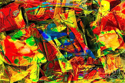 Colorful Abstract Mixed Media - In Times Of Stress ... by Gwyn Newcombe