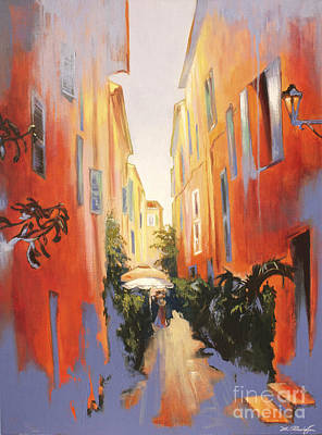 Painting - In Town Of Saint Tropez by Lin Petershagen