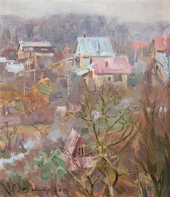 Thawing Painting - In Vicinities Of Uzhgorod by Victoria Kharchenko