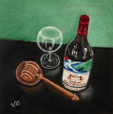 Painting - In Vino Veritas 2 by Victoria Lakes