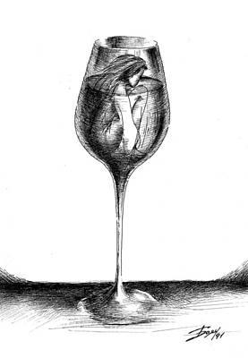 In Vino Veritas Art Print by Boyan Donev