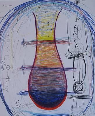 Vinos Drawing - In Vino Veritas by Elena Soldatkina
