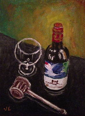 Painting - In Vino Veritas by Victoria Lakes