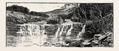 Vale Drawing - In Weardale, A Dale, Or Valley, Of The East Side by English School