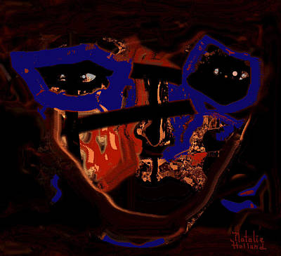 Outsider Art Mixed Media - In Your Face by Natalie Holland