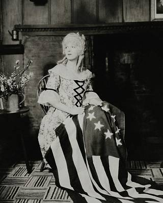 Ina Photograph - Ina Claire As Betsy Ross by Charles Sheeler