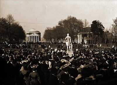 Inauguration Day Drawing - Inauguration Day, University Of Va, University Of Virginia by Litz Collection