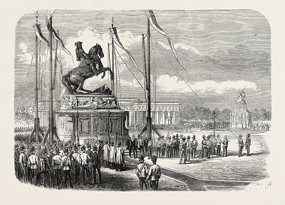 Eugene Drawing - Inauguration Of An Equestrian Statue Of Prince Eugene by Austrian School
