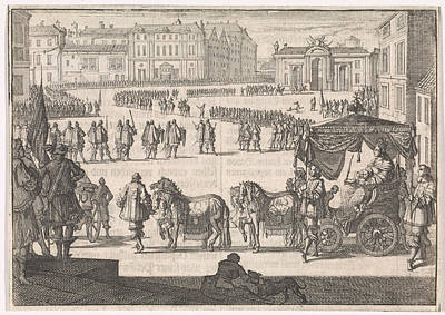 Christina Drawing - Inauguration Of Christina, Queen Of Sweden In Stockholm by Johann David Zunnern