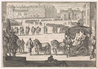 Christina Drawing - Inauguration Of Christina, Queen Of Sweden In Stockholm by Quint Lox