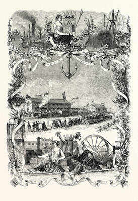 Inauguration Of Railway Bordeaux Tonneins First Section Art Print by English School