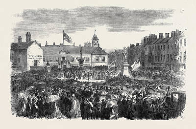 Inauguration Drawing - Inauguration Of The Steel Monument At Carlisle On The 16th by English School