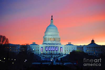 Vice President Biden Photograph - Inauguration Sunrise As Photo by Jost Houk
