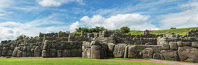 Ancient Civilization Photograph - Inca Archaeological Site, Saksaywaman by Panoramic Images
