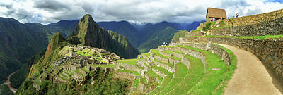 Inca City Of Machu Picchu With Urubamba Art Print