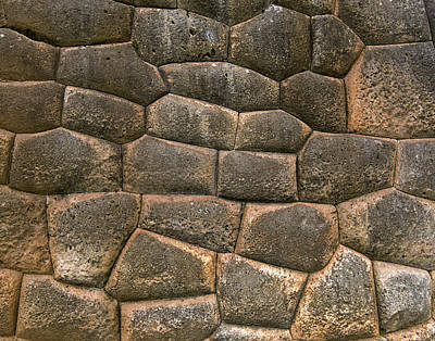 Photograph - Inca Wall in Chinchero Peru by Jared Bendis