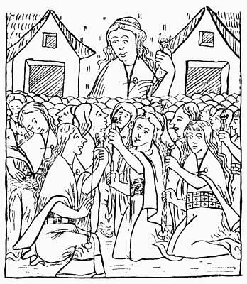 Inca Drawing - Inca Women Weaving by Granger