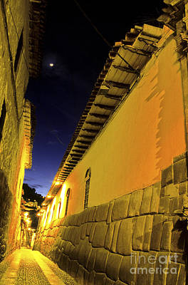 Photograph - Incan Street Cusco Peru by Ryan Fox