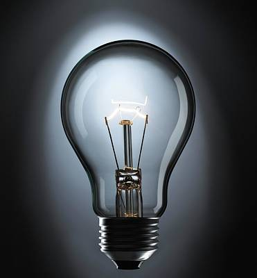 Incandescent Light Bulb Art Print by Science Photo Library