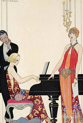 1920s Painting - Incantation by Georges Barbier