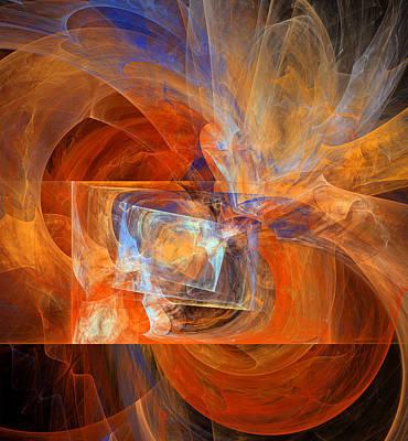 Philosophical Movement Digital Art - Incendiary Ammunition Abstract by Georgiana Romanovna