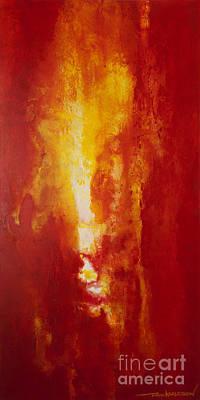 Macrocosm Painting - Incendie by Todd Karleskein