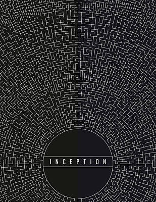 Art Print featuring the digital art Inception Movie Poster by Mike Taylor