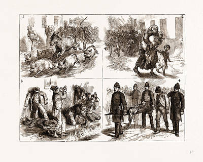 Incidents At The Great Fire In Dublin Art Print by Litz Collection