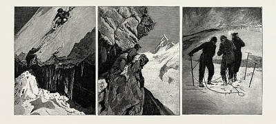 Alps Drawing - Incidents Of Climbing In The High Alps, 1889 by Litz Collection