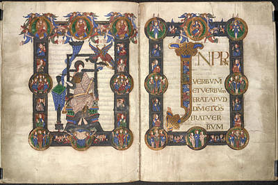 New Testament Photograph - Incipit To St John's Gospel by British Library