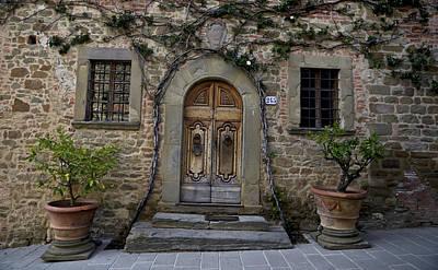 Inclined Door - Tuscany Art Print