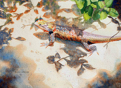 Incognito  Lizard Original by Deb  Harclerode