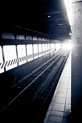 Photograph - Incoming At The Subway - New York City by Silken Photography