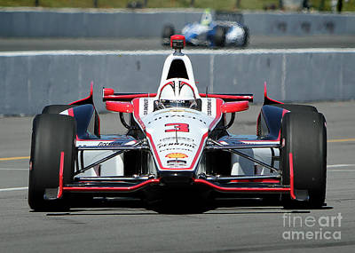 Indycar Photograph - Incoming Helio Castroneves by Bryan Maransky