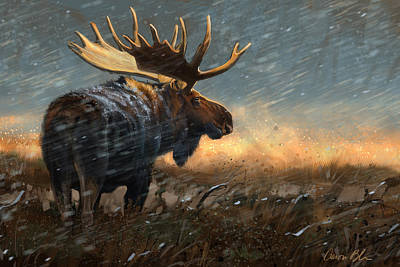 North American Wildlife Digital Art - Incoming Storm by Aaron Blaise
