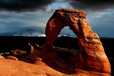 Photograph - Incoming Storm At Delicate Arch At Arches National Park by Jetson Nguyen