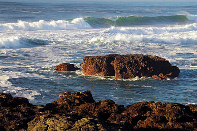Incoming Tide At Yachats, Yachats Art Print