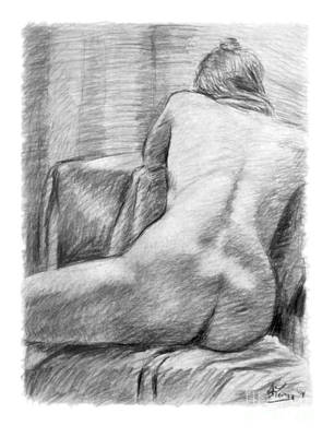 Person Drawing - Incongruous by Adam Long
